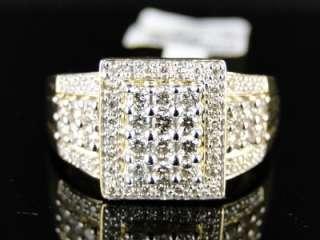 14K LADIES WOMENS YELLOW GOLD ROUND CUT XL DIAMOND ENGAGEMENT RING .63