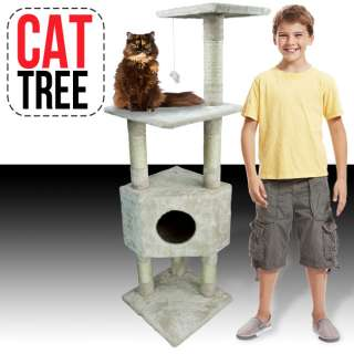 53 Cat Tower Tree Condo Scratcher Furniture Kitten House Beige Post