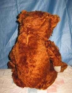 Cinnamon Brown MOHAIR TEDDY BEAR 20 a charmer Shoe Button Eyes