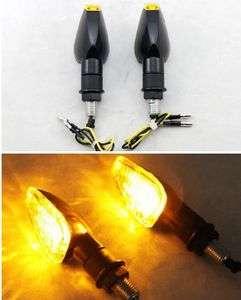 Motorcycle LED Turn Signals Light Indicator Blinker Black&Clear