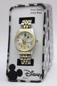 New Disney Classic Mickey Mouse Two Tone Watch MCK618