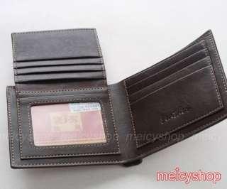 Bi Fold Mens Design Fashion Leather Wallet Purse Card Case #163