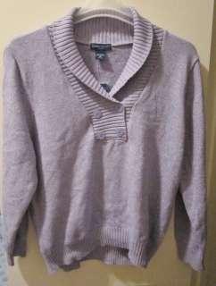 SCOTT Woman Blue Sweater, Size 1X, 100% Cotton Sweater, Size 1X, Warm