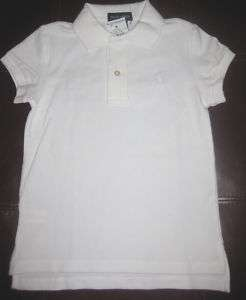 NWT RALPH LAUREN STRETCH POLO TOP SIZE SMALL WHITE