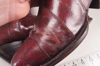 Tony Cat Burgundy EEL Skin 28.5 9.5 Mens Western Boots