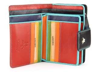 Visconti Soft Leather Womens Purse / Wallet In Black / Multi Colour