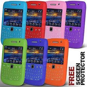 SILICONE CASE COVER & SCREEN PROTECTOR FOR BLACKBERRY BOLD 9700 9780