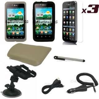 10en1 Funda Cuero Silicona Para LG Optimus Black P970