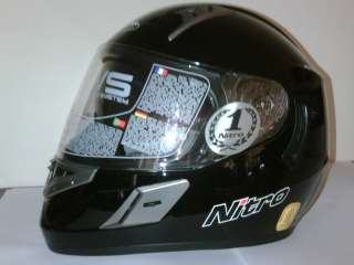 NITRO NSFP UNO MOTORCYCLE FULL FACE HELMET BLACK S