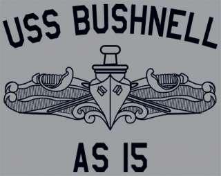 US USN Navy USS Bushnell AS 15 Submarine Tender T Shirt