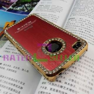 Luxury Bling Diamond Crystal Hard Case Cover For Apple iPhone 4 4G 4S
