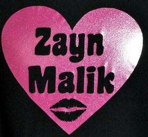 LOVE ZAYN MALIK ~ ONE DIRECTION/1D BLACK KIDS T SHIRT & PINK GLITTER
