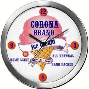 CORONA 14 Inch Ice Cream Metal Clock Quartz Movement