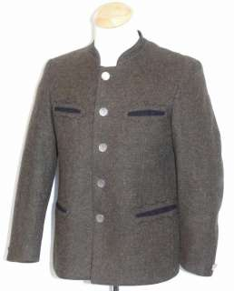 LODEN BOILED WOOL ~ BROWN Men AUSTRIA Hunting WINTER WARM Coat JACKET