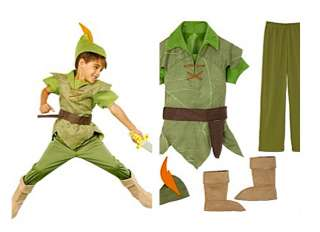 NEW  Boys Halloween Costumes   Pick Peter Pan or Captain