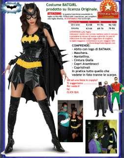 Costume DONNA BATGIRL di BATMAN Halloween Carnevale Tg. M