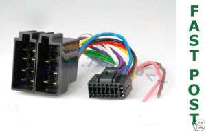 jvc iso car audio wiring harness adaptor 16 pin stereo kd