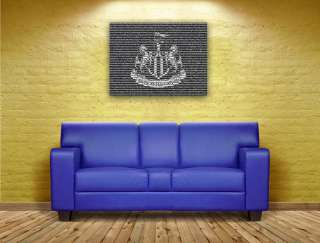Newcastle United 600 Players Framed Canvas Club Crest