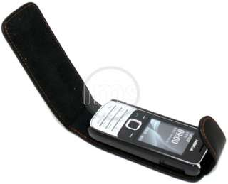 BLACK LEATHER CASE II FOR NOKIA 2730 CLASSIC + FILM
