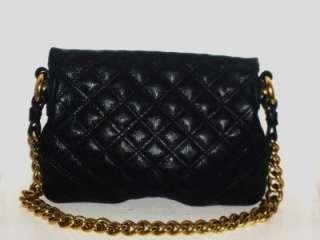 MARC JACOBS Black Mayfair Quilted Leather Chain Shoulder Bag Handbag