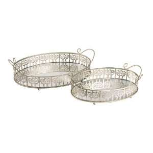 Home Accents 51 0148 SET 2 LASKO MIRROR TRAYS n a: Home & Kitchen