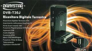 DECODER DIGITALE TERRESTRE DVB T PVR VIDEOREGISTRATORE