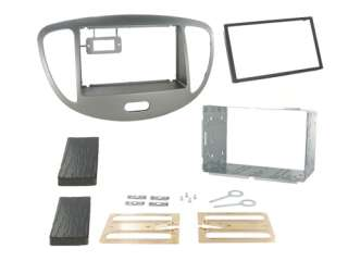 HYUNDAI i10 Car CD Stereo Silver Double Din Fascia Panel Fitting Kit