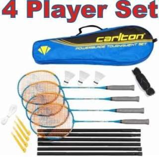 Carlton PowerBlade Badminton Set 4 Rackets, Net & Bag