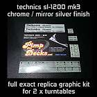 DJ Equipment, Vinyl Graphics Stickers items in technics 1200 store on