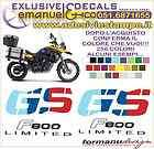 KIT ADESIVI DECAL BMW F 800 GS LIMITED EDITION