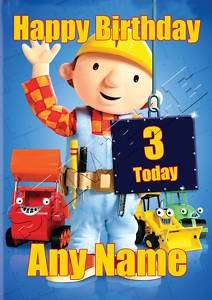 BOB THE BUILDER A5 Personalised Birthday Card