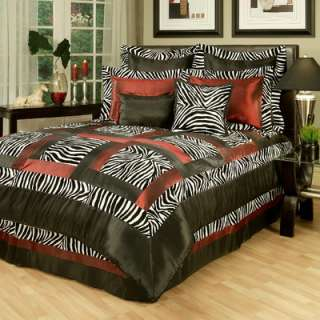 Designs Lime Funky Zebra 3 Piece Full / Queen Bedding Set