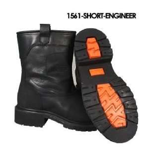 Mens Short Engineer Leather Motorcycle Boots Sz 10