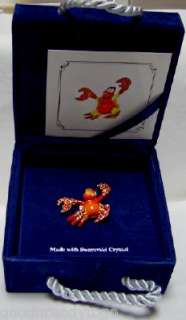 Disney LITTLE MERMAID SEBASTIAN SWAROVSKI LE BROOCH PIN