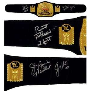 The Hart Foundation Signed Replica Tag Team Championship