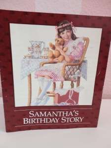 American Girl Doll Samanthas Right WHITE PARTY SLIPPER & Birthday