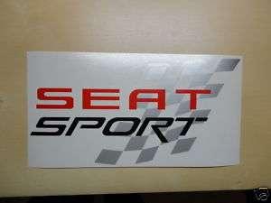 Pegatina/Stick/ vinilo SEAT SPORT 10 x 5 cm