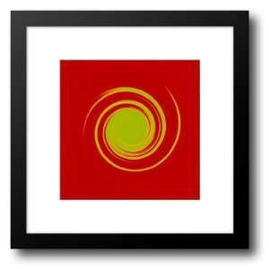 Green On Bright Red) 20x20 Framed Art Print by Banks, Michael: Home