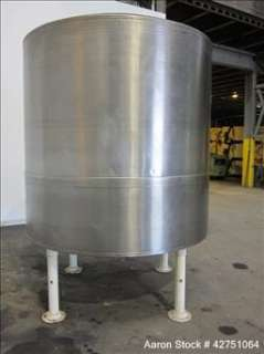 Used  Tank, 1500 Gallon, Stainless Steel, Vertical. 84