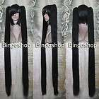 Great quality Black Rock Shooter Cosplay wig Party Hair + 2 Ponytails