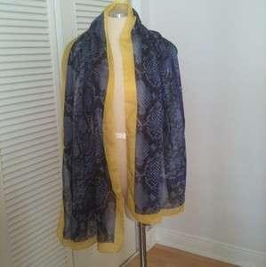 Valentino Python Print Cotton/silk Scarf