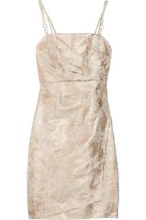 Kay Unger Metallic brocade cotton blend dress   70% Off Now at THE