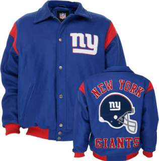New York Giants Team Color Wool Varsity Jacket