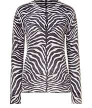 Black and White Cashmere Sweater by MICHAEL KORS