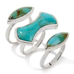 Studio Barse Turquoise Sterling Silver Stackable Puzzle Ring