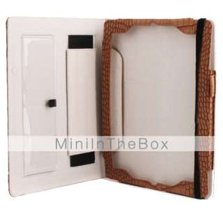 US$ 19.29   Snakeskin Pattern PU Leather Case Stand for iPad 2, Free