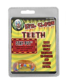 Evil Clown Teeth   Clown Costume Accessories