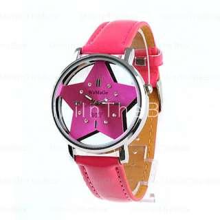 chica de moda mujer reloj de pulsera rosa s correa rosa roja dial de