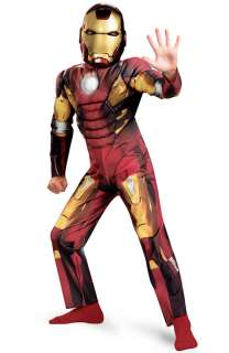 Marvel Avengers Movie Iron Man Mark VII Classic Muscle Child Costume