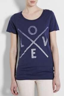 Zoe Karssen  Love Patriot Blue Loose Fit Boyfriend T Shirt by Zoe